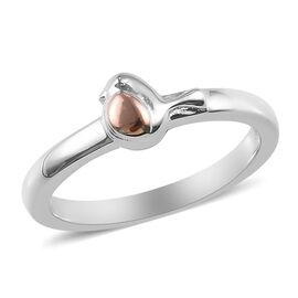 Rose Gold and Platinum Overlay Sterling Silver Bird Ring