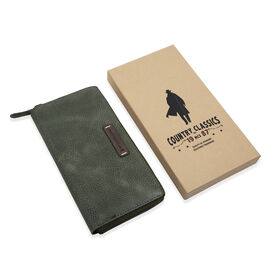 MCS Country Classics: 100% Genuine Leather Wallet - Dark Green and Brown
