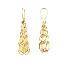 9K Yellow Gold Hook Earrings, Gold wt 5.09 Gms