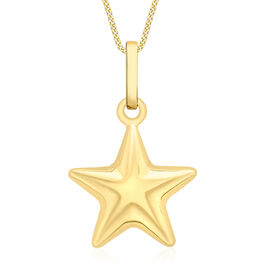 9K Yellow Gold Star Pendant