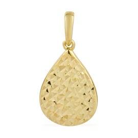 Ottoman Treasure 9K Y Gold Diamond Cut Drop Pendant