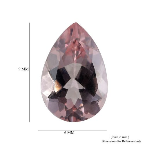 AAA Pink Morganite Pear 9x6 Faceted 0.96 Cts