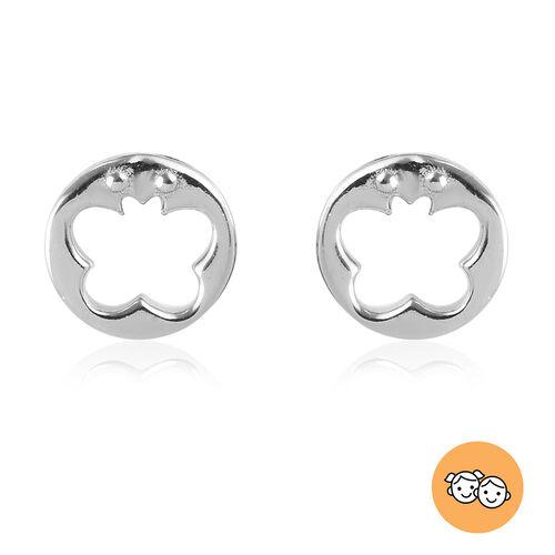 Children Butterfly Earrings in Sterling Silver