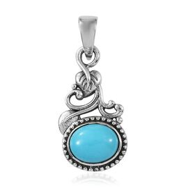 Artisan Crafted Arizona Sleeping Beauty Turquoise (Ovl) Pendant in  Sterling Silver 2.20 Ct