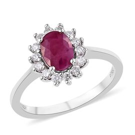 Rhapsody Burmese Ruby (0.75 Ct) and Diamond 950 Platinum Ring  1.000  Ct.