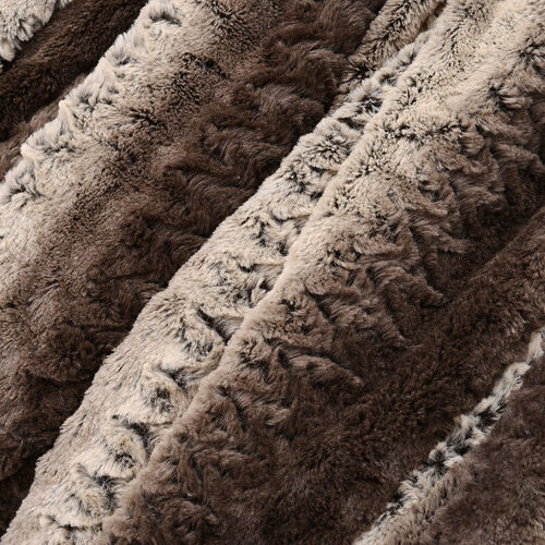 Deluxe Collection- High Quality Brown Faux Fur Sherpa Blanket (150x200 cm)