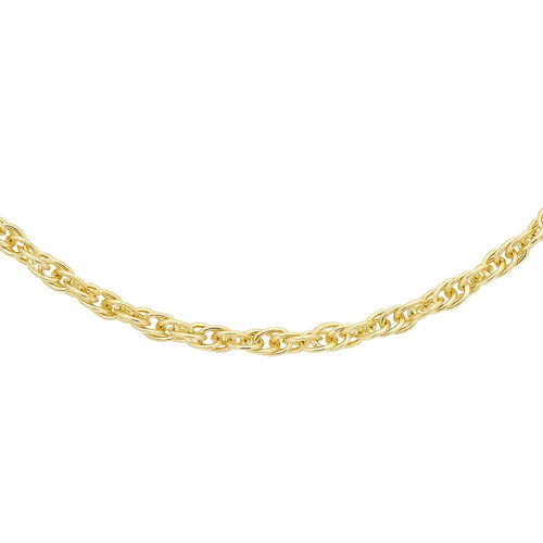 ILIANA 18K Yellow Gold Prince of Wales Chain (Size 18)