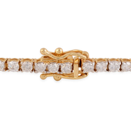 14K Yellow Gold Diamond (I2-I3/G-H) Bracelet (Size 7) with Clasp Lock 2.99 Ct, Gold wt 5.85 Gms