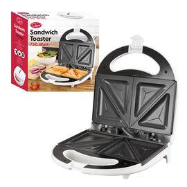 2-Slice Fixed Plate Sandwich Maker (Size: 25x25x8cm, Cord L: 70cm) - White