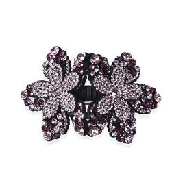 Flower Hair Clip - Dark Purple and Light Purple