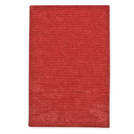 Premium Hand Tufted Luxury Carpet with 100% Cotton Back (180 CmX120 Cm. ) - Coral Red Colour