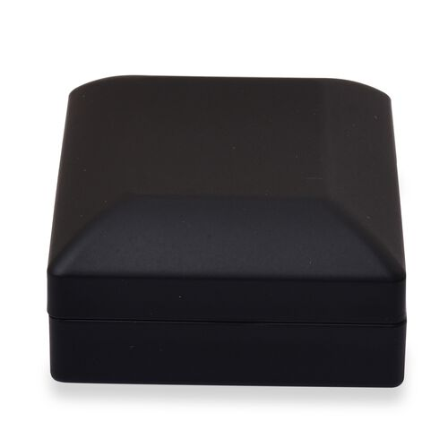 Solid Black Colour Necklace/Earring Box with LED Light (Size 9x3.5x7 Cm)