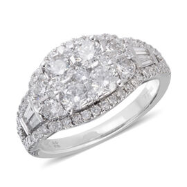 New York Close Out 2 Carat Diamond Ring in 14K White Gold AGI Certified SI GH