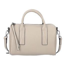 Sencillez Solid Linen Colour 100% Genuine Leather Convertible Bag with Zipper Closure