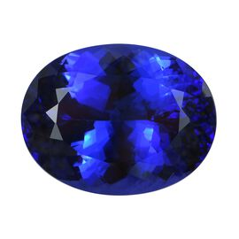 IGI Certified AAAA Tanzanite Oval Mixed Cut 22.32x17.45x11.63 mm 32.18 Cts