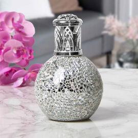 Silver Moasaic Fragrance Lamp (Size 16x8cm)