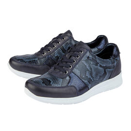 Lotus Stressless Leather Florence Lace-Up Trainers in Navy Colour