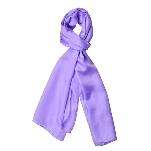 Pantone Collection - 100% Mulberry Silk Lilac Colour Scarf (Size 175X90 Cm)