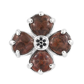 Poppy Jasper (Hrt), Boi Ploi Black Spinel Pendant in Sterling Silver 8.140 Ct.