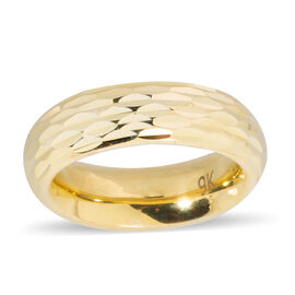 Istanbul Treasure Collection- 9K Yellow Gold Diamond Cut Band Ring
