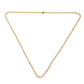 NY Close Out Deal- Italian Made- 9K Yellow Gold Belcher Necklace (Size - 24),  Gold Wt. 7.72 Gms