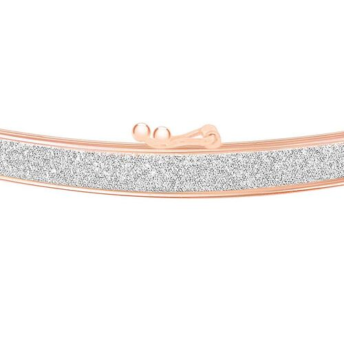 9K Rose Gold Stardust Bangle (Size 7.5), Gold wt. 2.30 Gms