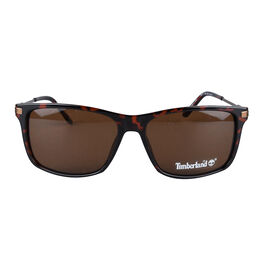 Timberland Tortoise Rectagular Sunglasses with Brown Lenses