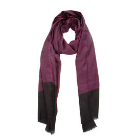 100% Cashmere Wool  Maroon Colour Scarf Size 70x200 CM