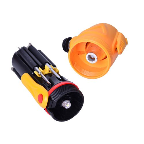 Yellow and Black Colour Multi Functional Hammer with LED Flashlight (Size 17X8X6 Cm)