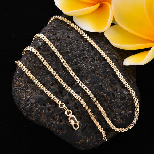 One time Close Out - 9K Yellow Gold Spiga Necklace (Size 20), Gold Wt 3.00 Gms