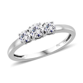 9K White Gold SGL Certified Diamond (Rnd) (G-H/I3) Ring 0.500 Ct.