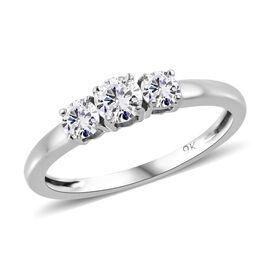 9K White Gold SGL Certified Diamond (Rnd) (G-H/I3) Ring 0.500 Ct.