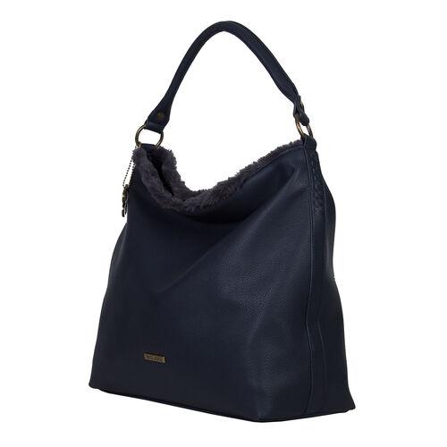 Bulaggi Collection- Jacinta Hobo Shoulder Bag (Size 34x34x14 Cm) - Dark Blue