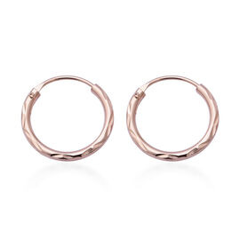 Hatton Garden Close Out Deal - Italian Made- Rose Gold Overlay Sterling Silver Hoop Earrings