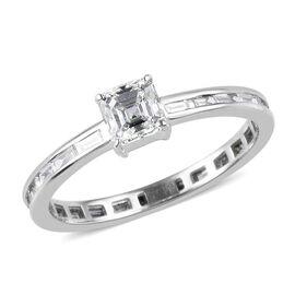 RHAPSODY 950 Platinum Asscher Cut IGI Certified Diamond (VS/E-F) Ring 1.00 Ct.