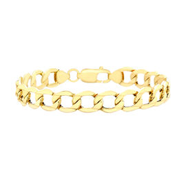 Hatton Garden Close Out 9K Yellow Gold Curb Bracelet (Size 8.5), Gold wt 5.10 Gms.