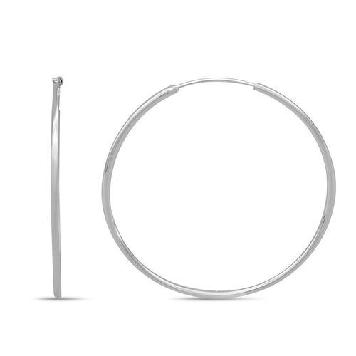 Italian Made - Sterling Silver Hoop Earrings