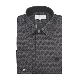 William Hunt Saville Row Forward Point Collar Black and White Shirt