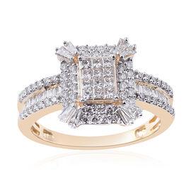 ILIANA 1 Carat Diamond Cluster Ring in 18K Gold 4.60 Grams IGI Certified SIGH
