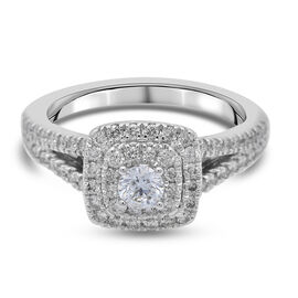 NY Close Out Deal - 14K White Gold Diamond (I1/G-H) Ring 0.75 Ct.