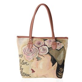 New Season Light Weight Glamour Lady Large Tote Bag (Size 42x35x32x10.5 Cm)