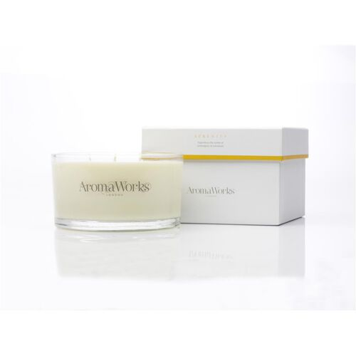 AromaWorks: Large Serenity 3 Wick Candle - 400g