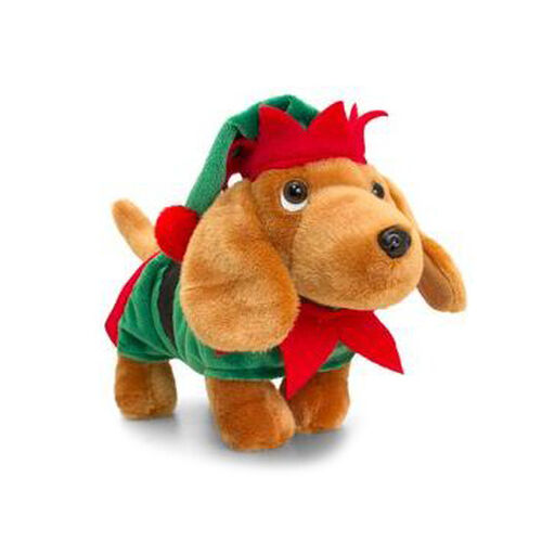 Keels: Mini Motsu - Douggie the Sausage Dog (With Green & Red Hat & Green Coat) (10cm)