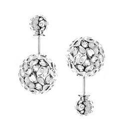 RACHEL GALLEY Rhodium Overlay Sterling Silver Stud Earrings