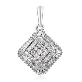 9K White Gold SGL Certified Diamond (I3/G-H) Pendant 0.50 Ct.