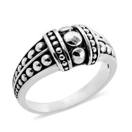 Bali Legacy Collection Sterling Silver Band Ring, Silver wt 6.60 Gms.