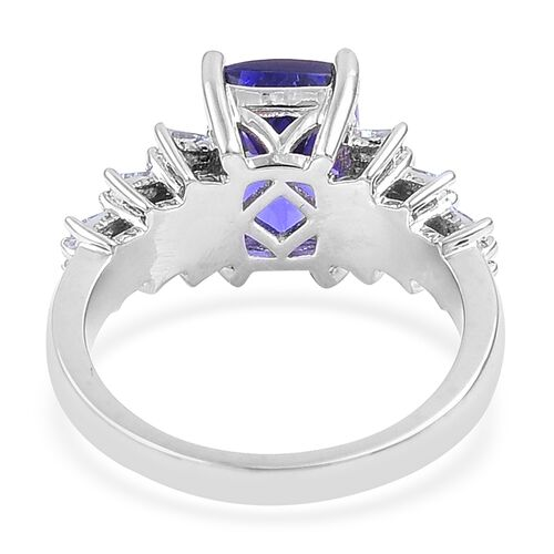 RHAPSODY 4.15 Ct AAAA Tanzanite and Diamond (VS/ E-F) Ring in 950 Platinum 7.50 gms