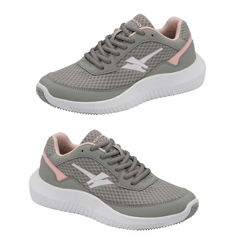Gola Wexford Lace Up Ladies Trainer (Size 3) -  Grey and Blossom