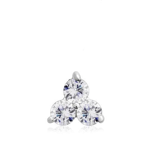 9K White Gold SGL Certified Diamond (Rnd) (I3/G-H) Pendant 0.500  Ct.
