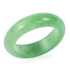 TJC Launch - One Time Deal Green Jade Band Ring 15.150 Ct.